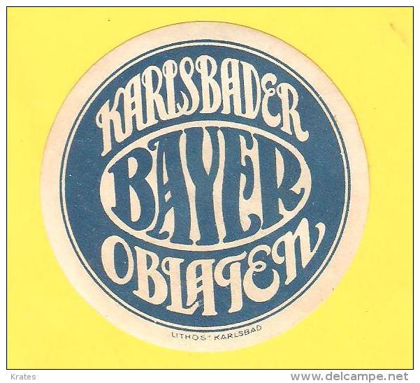 Old Labels, Promotional Labels Or Similar - Bayer, Karlsbader Oblaten - Altri