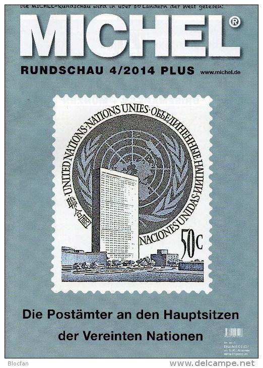 MICHEL Briefmarken Rundschau 4/2014 Plus Neu 6€ New Stamps World Catalogue And Magacine Of Germany ISBN 4 194371 105009 - Deutsch