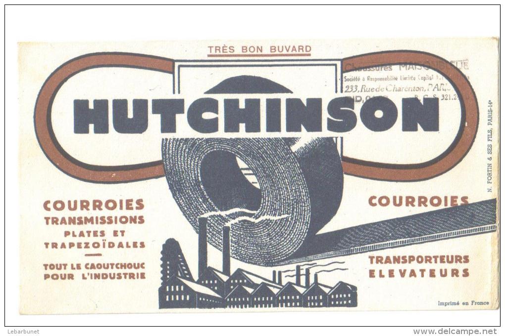 "Buvard Ancien  ""Hutchinson""   Courroies - Buvards, Protège-cahiers Illustrés"