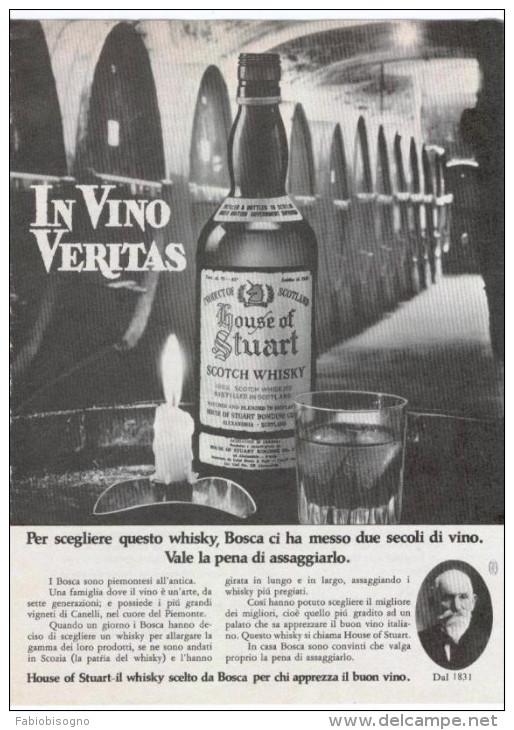 1970 - Whisky HOUSE OF STUART -  1  Pubblicità Cm. 13,5 X 18,5 - Whisky
