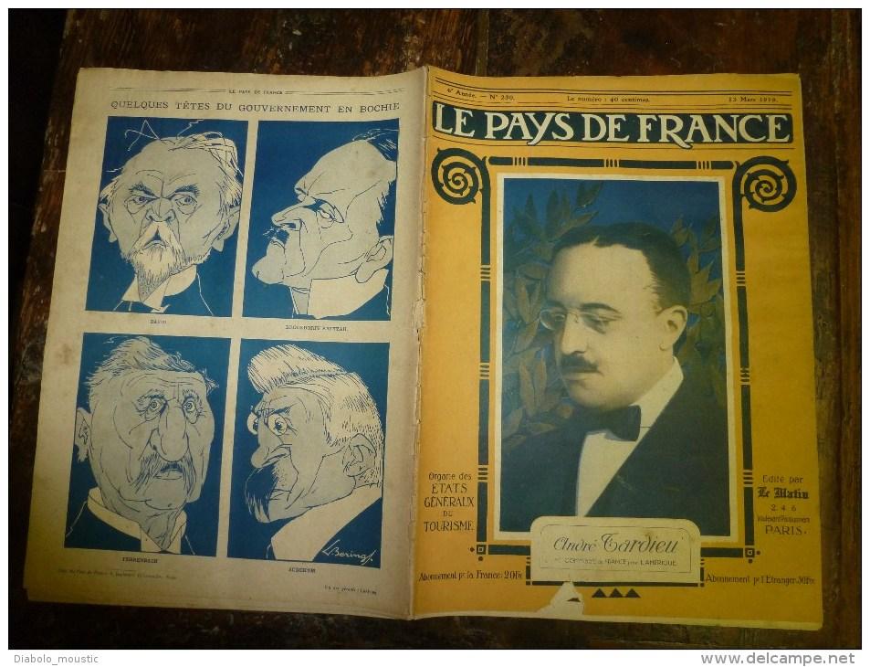 13 Mars 1919  LE PAYS DE FRANCE (n° 230) - Revues & Journaux