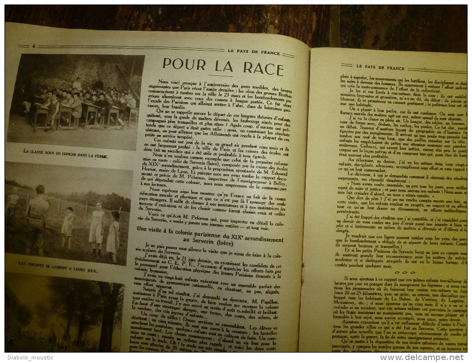 13 Mars 1919  LE PAYS DE FRANCE (n° 230) - Français