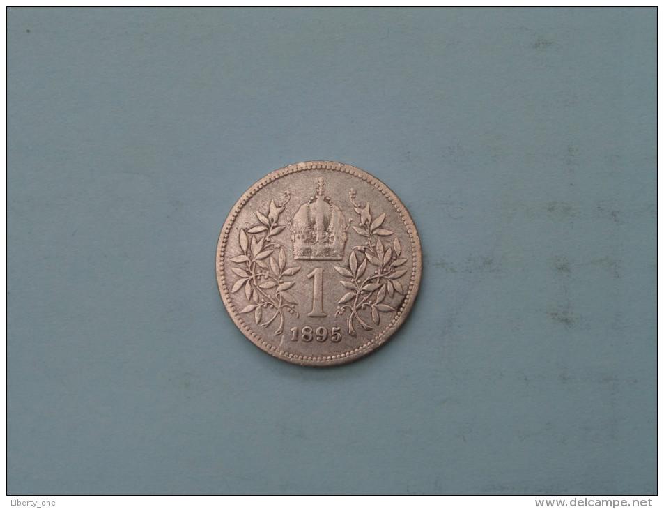 1895 - 1 Corona - KM 2804 ( Uncleaned - Details Zie Foto´s ) ! - Austria