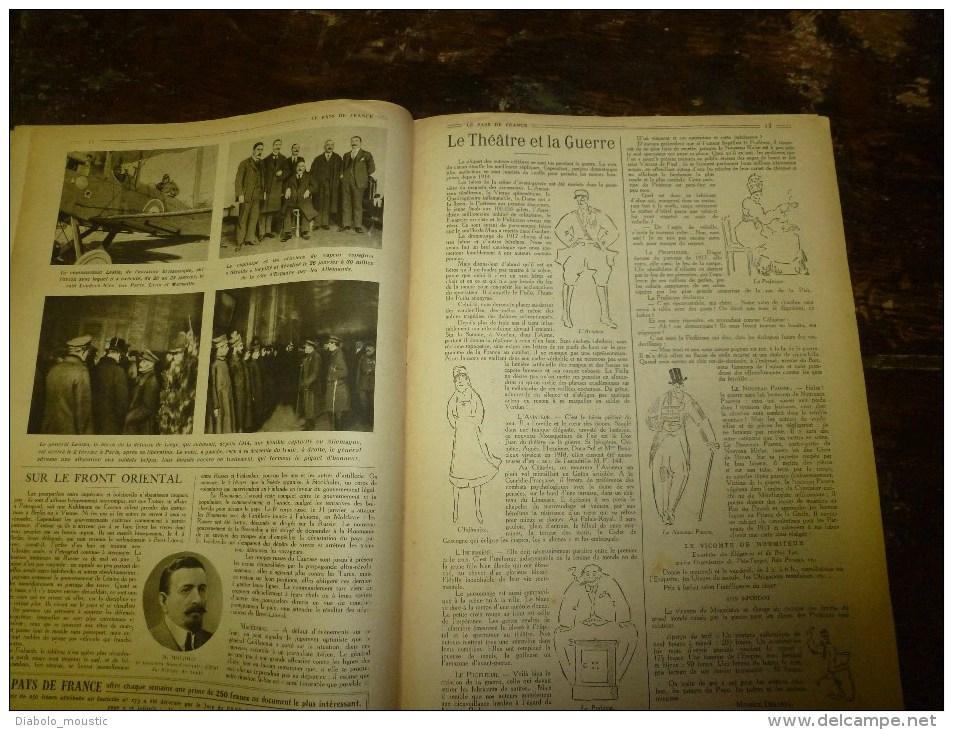 1918 LPDF: Procès Bolo; Les Greniers De L'UKRAINE ; Nieuport; Les GOTHAS à CALAIS; Le Théâtre Et La Guerre - Français