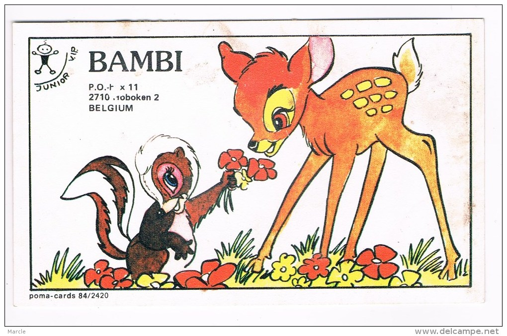 QSL Card Poma 84/2420 BAMBI  Hoboken, Belgium - CB-Funk