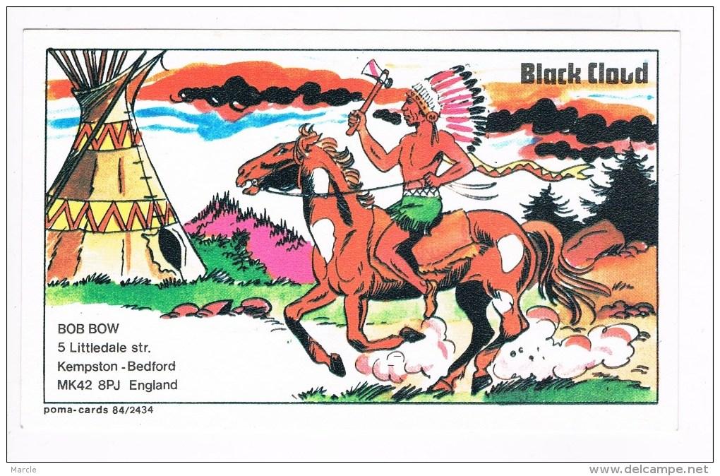 QSL Card Poma 84/2434 BLACK CLOUD  Bob Bow  Kempston, Bedford, England - CB-Funk