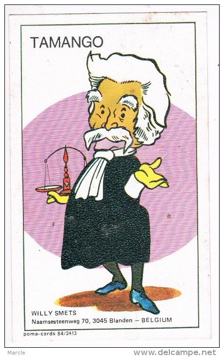 QSL Card Poma 84/2413 TAMANGO  Willy Smets  Blanden, Belgium - CB-Funk