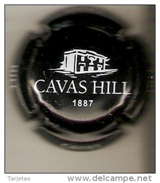 PLACA DE CAVAS HILL COLOR NEGRO LETRAS BLANCAS  (CAPSULE) - Placas De Cava