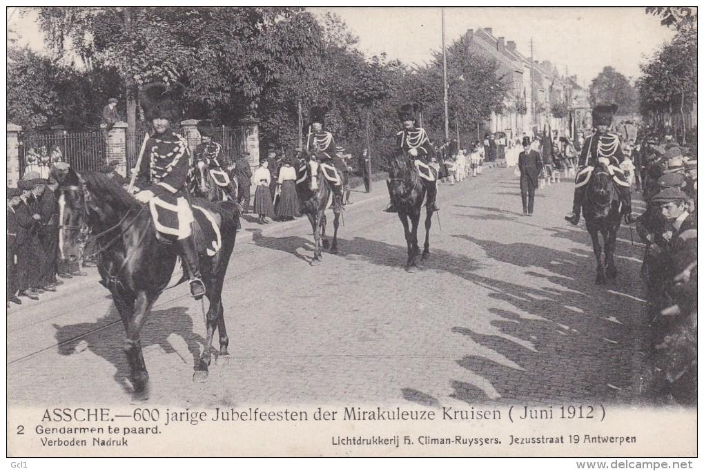 Asse -600 Jarige Jubelfeesten - Gendarmen Te Paard - Asse