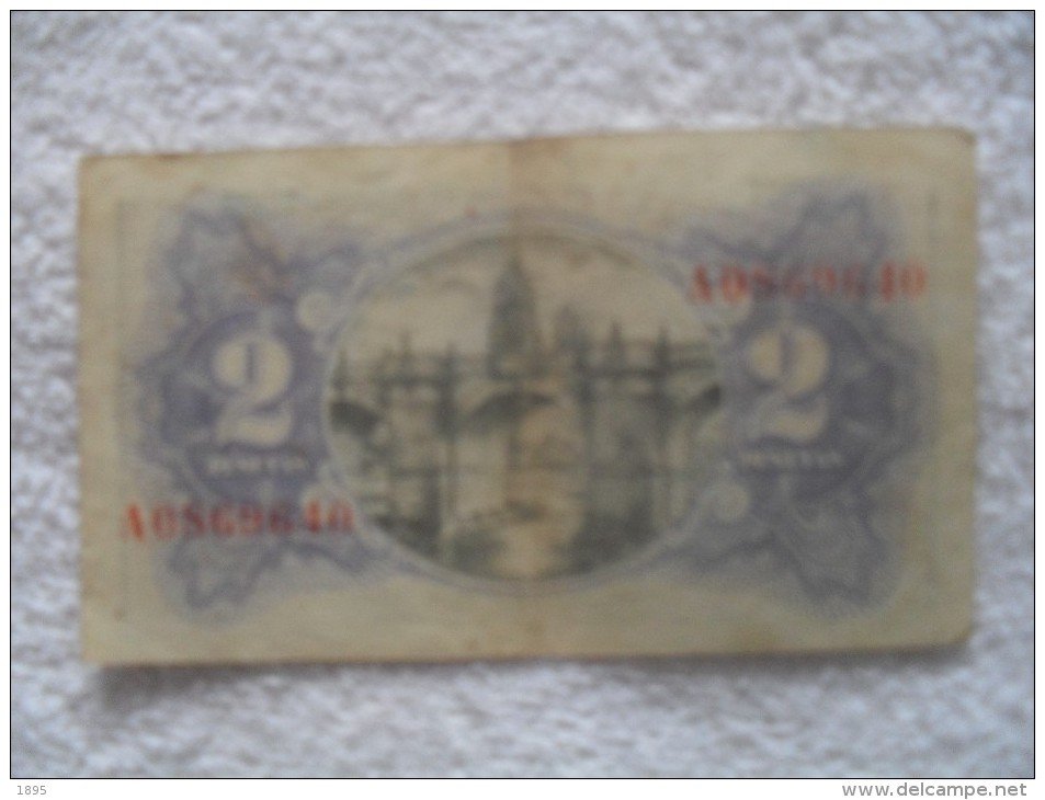 Billet De  2 Peseta De 1938   A 1228065 - Espagne