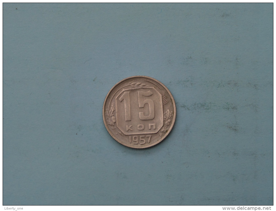 1957 - 15 Kopek / Y# 124 ( Uncleaned - Details Zie Foto´s ) ! - Russie