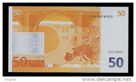 "Polymer-Test Note ""EMI 1997 FACSIMIL"" 50 EURO, Euro Size, Beids. Druck, RRR, UNC - Espagne"