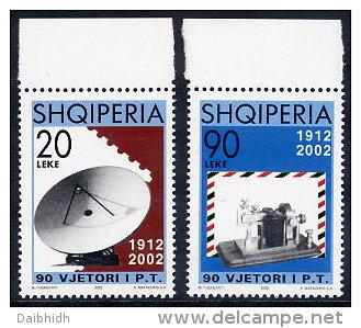 ALBANIA 2002 Postal Service  Anniversary  MNH / **.  Michel 2906-07 - Albania