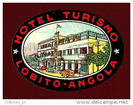 ANGOLA - LOBITO - HOTEL TURISMO - DECALCOMANIA - 1950 OLD ADVERTISING STICKER - Stickers