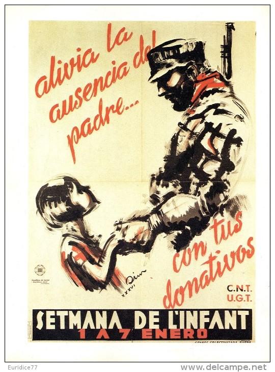 Cartel Affiche Poster Civil Spanish War - Size: 20x13 Cm. Aprox. REPRODUCTION - Patrióticos