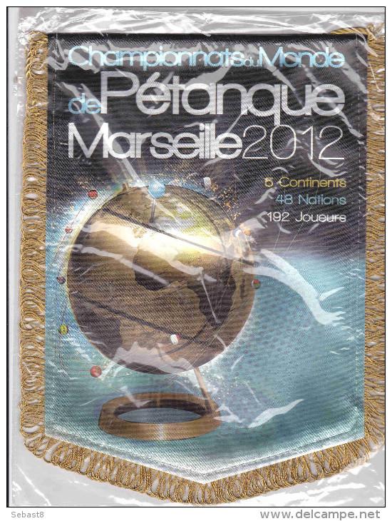 RARE FANION CHAMPIONNATS DE MONDE DE PETANQUE MARSEILLE 2012 - Pétanque