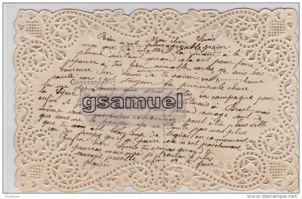 Carte Patriotique - Je Porte Bonheur (chromo Et Ruban Bleu Blanc Rouge - France). (voir Scan). - Vieux Papiers