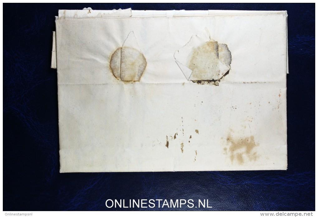 Complete Brief Deventer Naar Zutphen,  Rondstempel Zonder Jaartal, Met Punt Zeldzaam, Fragiel - ...-1852 Vorläufer
