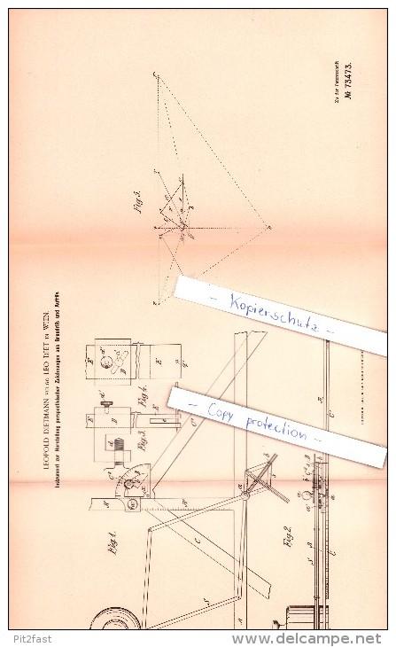 Original Patent  -  Leopold Dietmann Vulgo Leo Diet In Wien , 1893 , Instrument Für Zeichnungen , Architektur !!! - Historical Documents