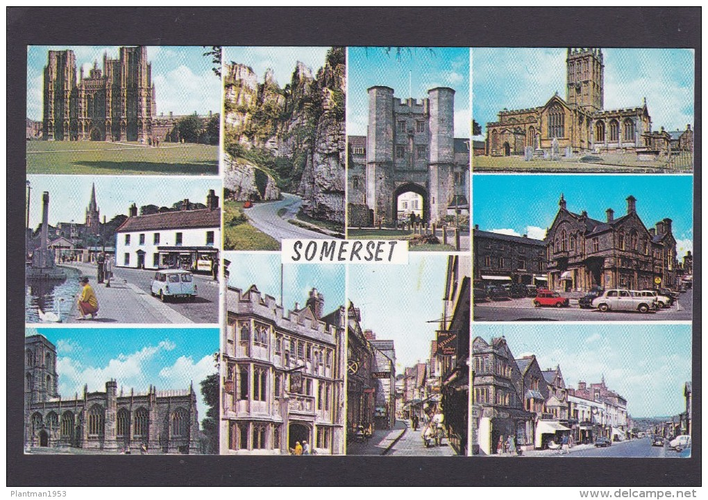 Multi View Of, Greetings From, Somerset, England, M8. - Cheddar