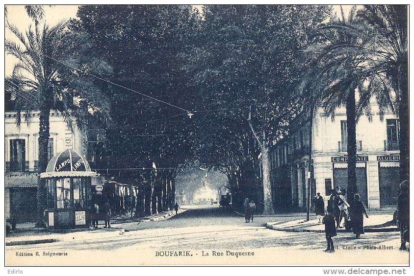 ALGERIE BOUFARIK Rue Duquesne TTB écrite - Algérie