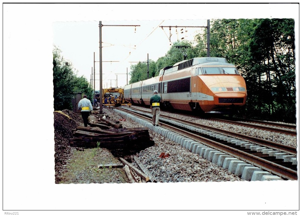 21 - FAUVERNEY - Côte D´Or Passage T.G.V. Train 1991 Renouvellement Complet Voie 2 Entre GENLIS Et NEUILLY LES DIJON - - Frankreich
