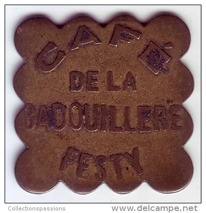 Monnaie De Nécessité - LOIRE 42 - St Etienne - Café De La Badouillère Festy - 1 Franc - Monétaires / De Nécessité