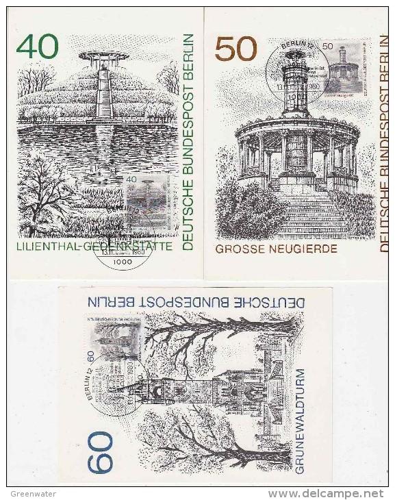 Berlin 1980 Views 3v 3 Maximum Cards (F2438) - [5] Berlijn