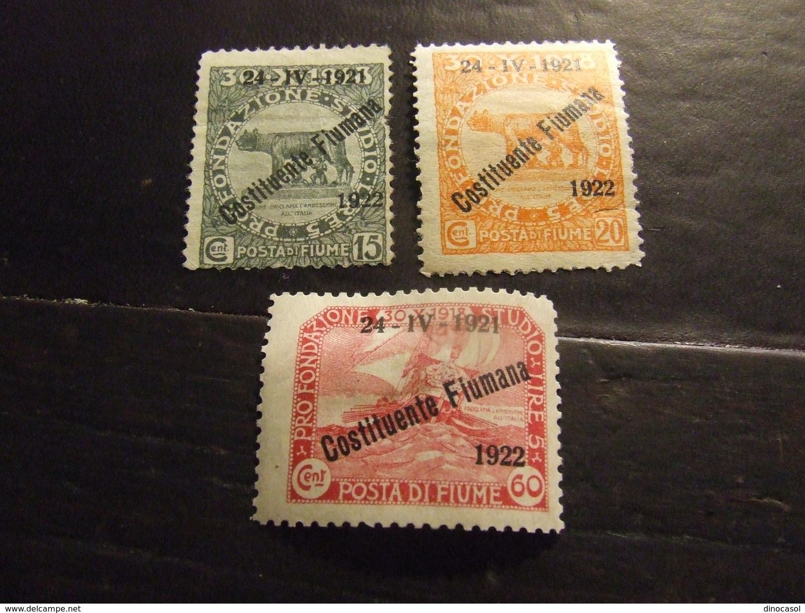 FIUME 1922 COSTITUENTE NUOVO * - Fiume