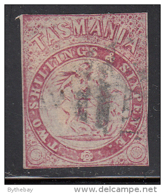 Tasmania Used Scott #AR2 2sh6p St. George And The Dragon, Carmine Imperf - Oblitérés