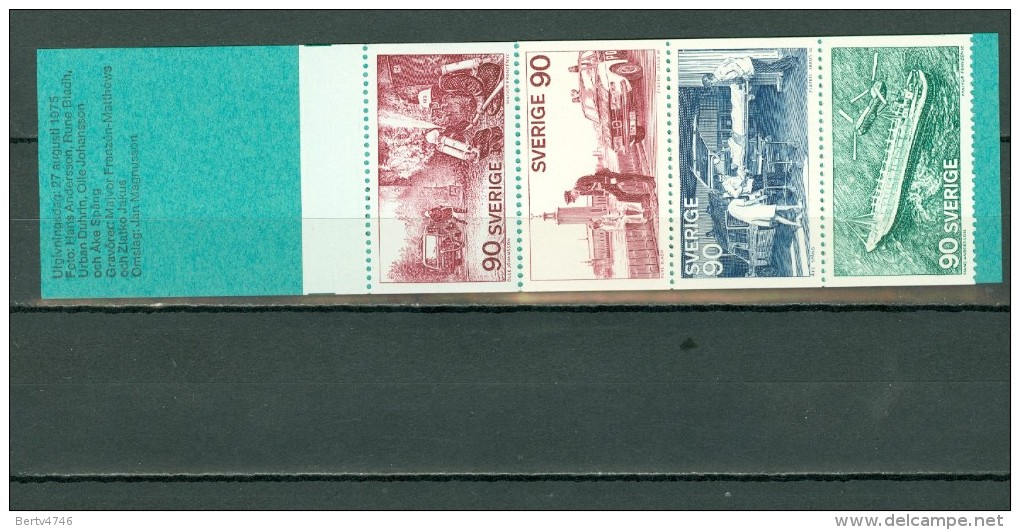 Sverige 1975  Yv  C895** Boekje/carnet 895** - Carnets