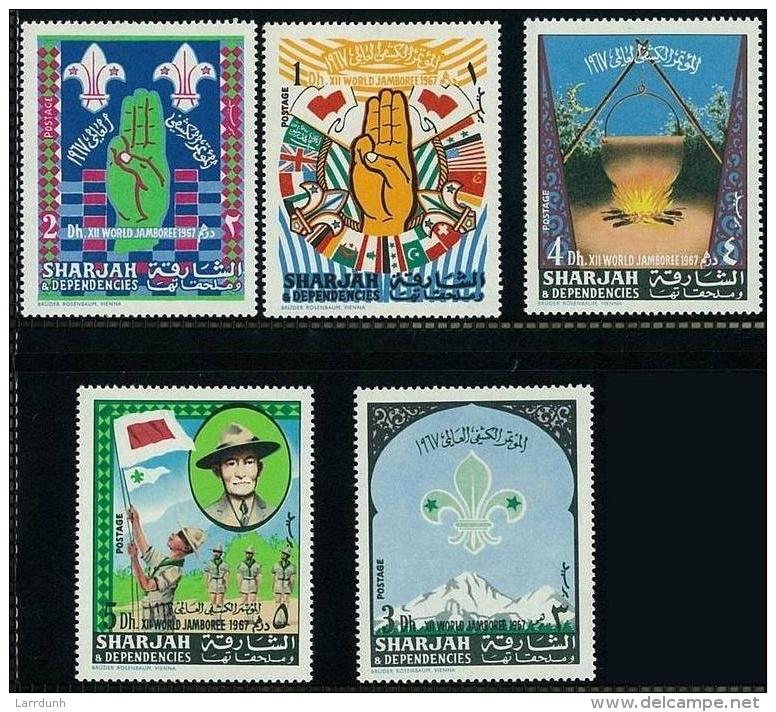 Sharjah Boy Scouts Scout Jamboree MNH 1967 A04s - Sharjah