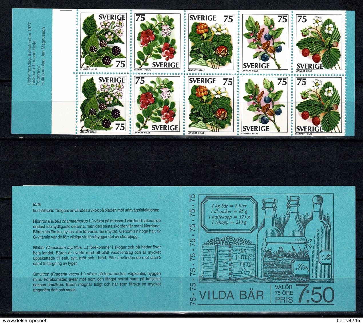 Sverige 1977  Yv  C975** Boekje/carnet 975** - Carnets