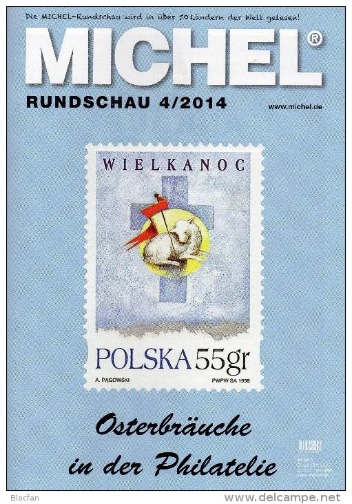 MICHEL Briefmarken Rundschau 4/2014 Neu 6€ New Stamps Of The World Catalogue And Magacin Of Germany ISBN 4 194371 105009 - Oude Documenten