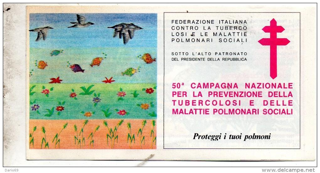 50° CAMPAGNA NAZIONALE PER LA PREVENZIONE DELLA TUBERCOLOSI E DELLE MALATTIE POLMONARI - Etichette Di Fantasia