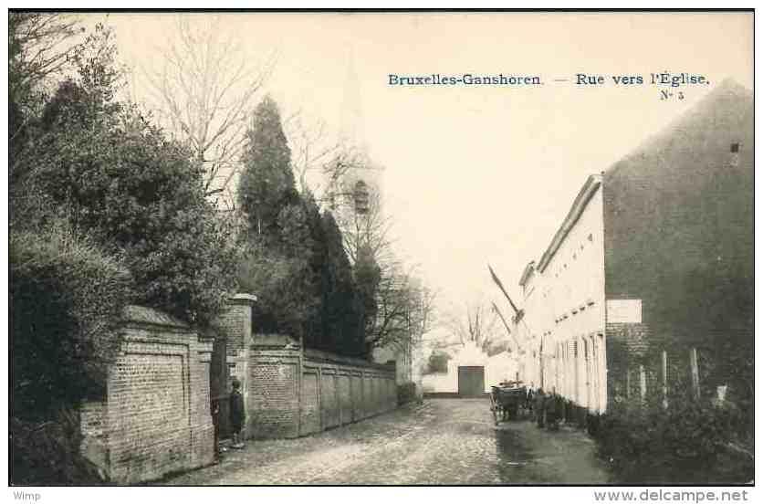 Bruxelles - Gansoren : Rue Vers L'Eglise - Ganshoren