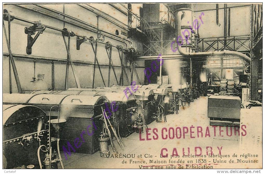 30. MOUSSAC .  CARENOU Et Cie . Vue D'une Salle De Fabrication . Plus Anciennes Fabriques De Réglisse De France . - Frankrijk