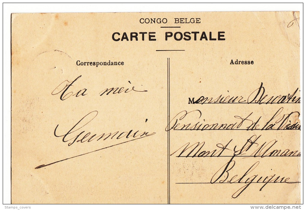 CONGO BELGE 1912 BOMA VERS MONT SAINT-AMAND - Belgian Congo - Other