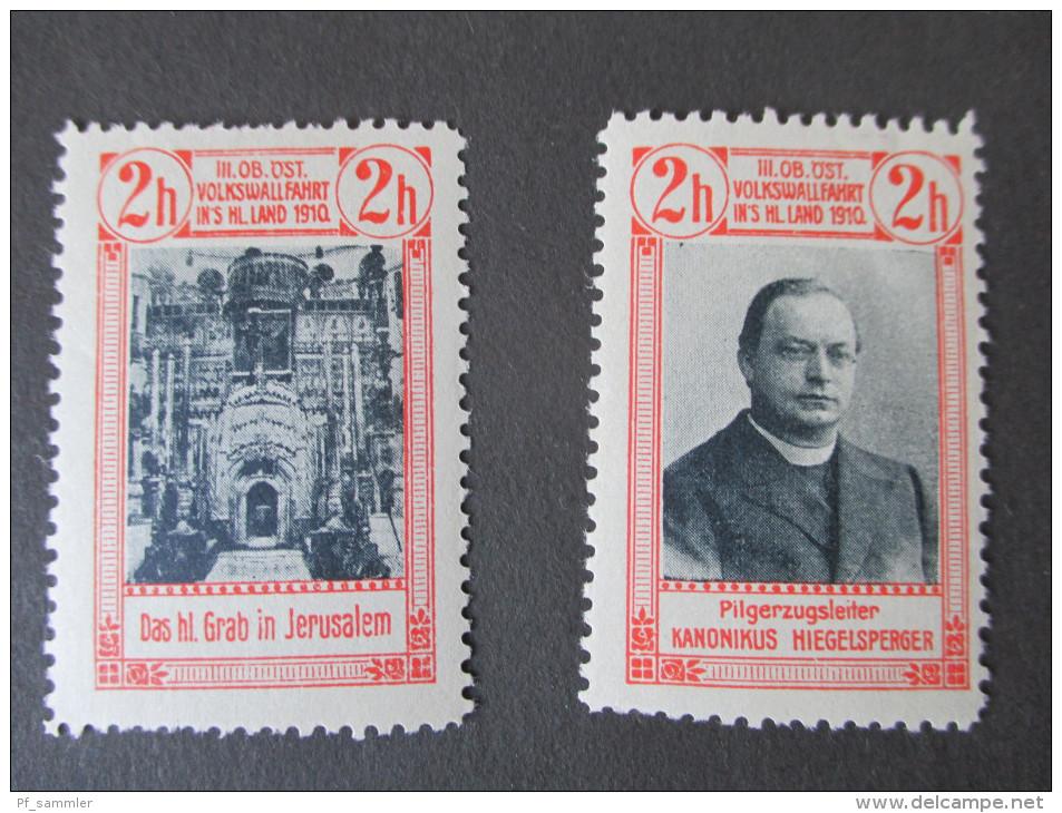Österreich 1910 Privatmarken 3. Hiegelsberger Volkswallfahrt Ins Heilige Land. Jerusalem / Abendmahlsaal Usw.. RAR!!! - Nuevos