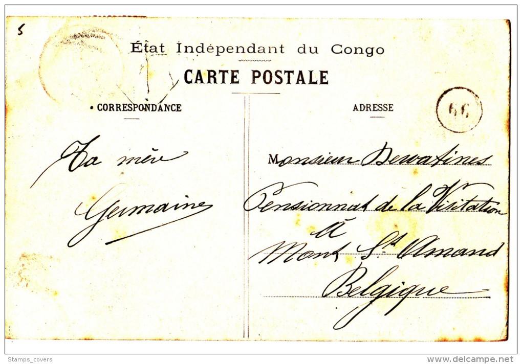 CONGO BELGE 1910 BOMA VERS MONT SAINT-AMAND - Congo Belge - Autres