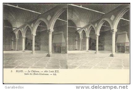 CPA Stéréoscopique De BLOIS - Le Château - Aile Louis XII - Salle Des Etats Généraux (stéréo N°5). - Blois