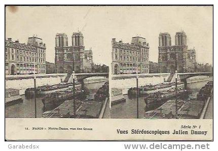 CPA Des Stéréoscopiques De Julien Damoy (série N°1) - PARIS - Notre Dame, Vue Des Quais (stéréo N°11). - Arrondissement: 01