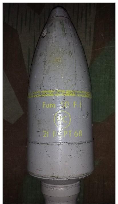 Grenade A Fusil Française 53mm Fumigène - Armes Neutralisées