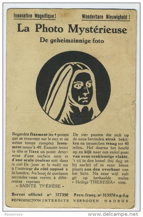 PHOTO MYSTERIEUSE  GEHEIMZINNIGE FOOT SAINTE TEHRESE INNOVATION MAGNIFIQUE WONDERBARE NIEUWIGHEIDE - Publicidad