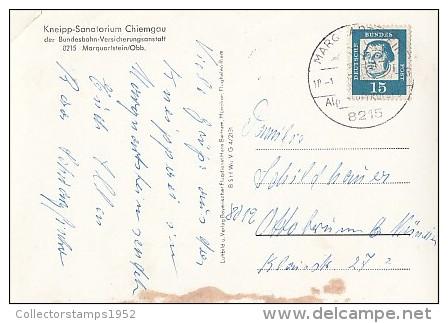 6914- POSTCARD, MARQUARTSTEIN- KNEIPP SANATORIUM, PANORAMA - Chiemgauer Alpen