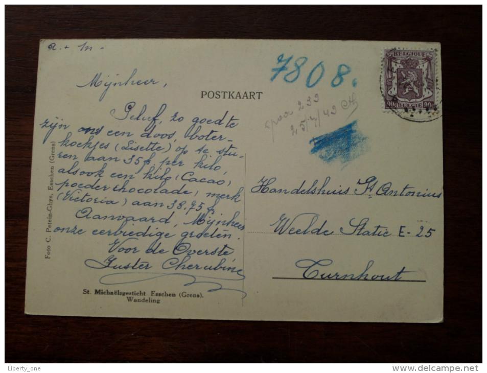 St. MICHAËLSGESTICHT Esschen ( Grens ) Wandeling / Anno 1949 ( Zie Foto Voor Details ) !! - Essen