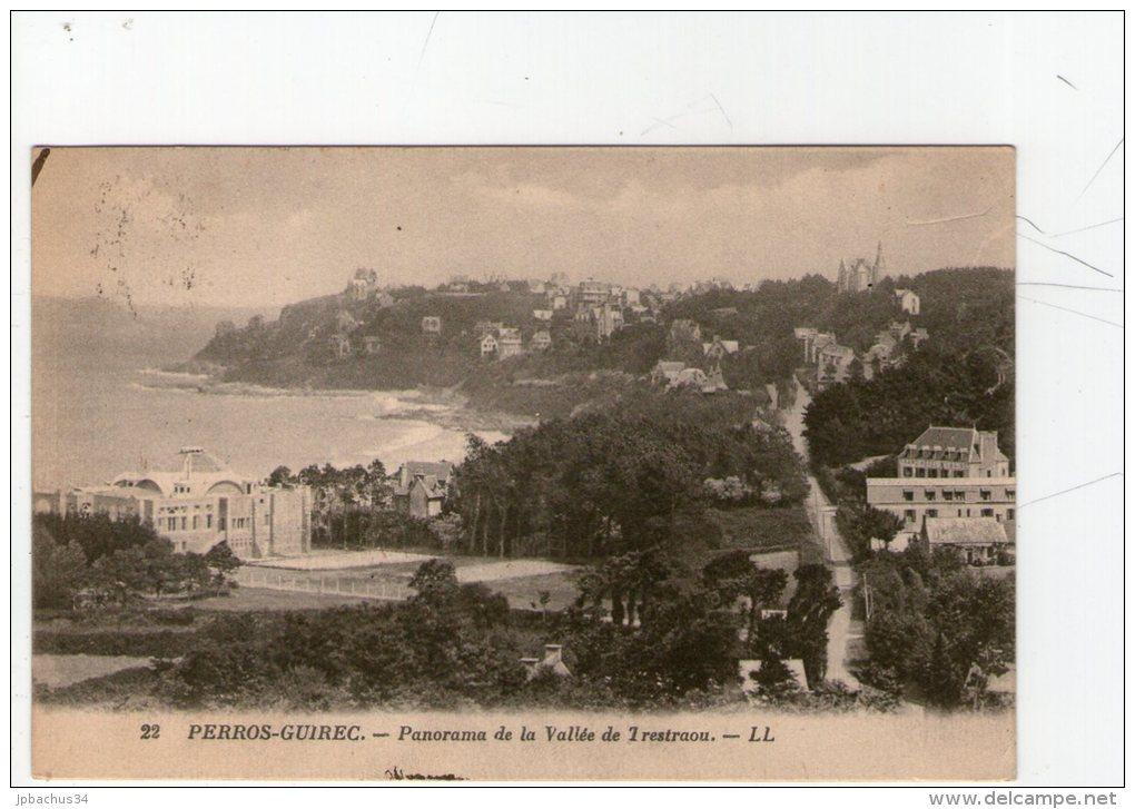 PERROS GUIREC. PANORAMA DE LA VALLEE DE TRESTRAOU. TBE - Perros-Guirec
