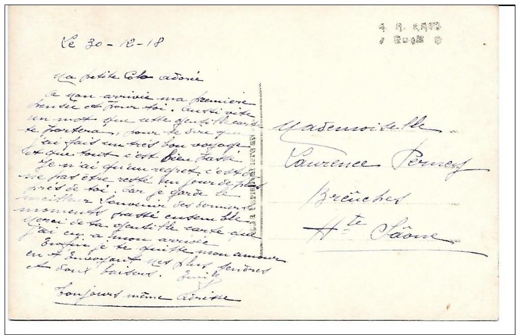 """MILITARIA (14-18) 70 BREUCHES  (PATRIOTIQUE) CPA  DECEMBRE 1918 """"NOTRE BONHEUR SE FAIT ATTENDRE....."""" - Patriottiche"""