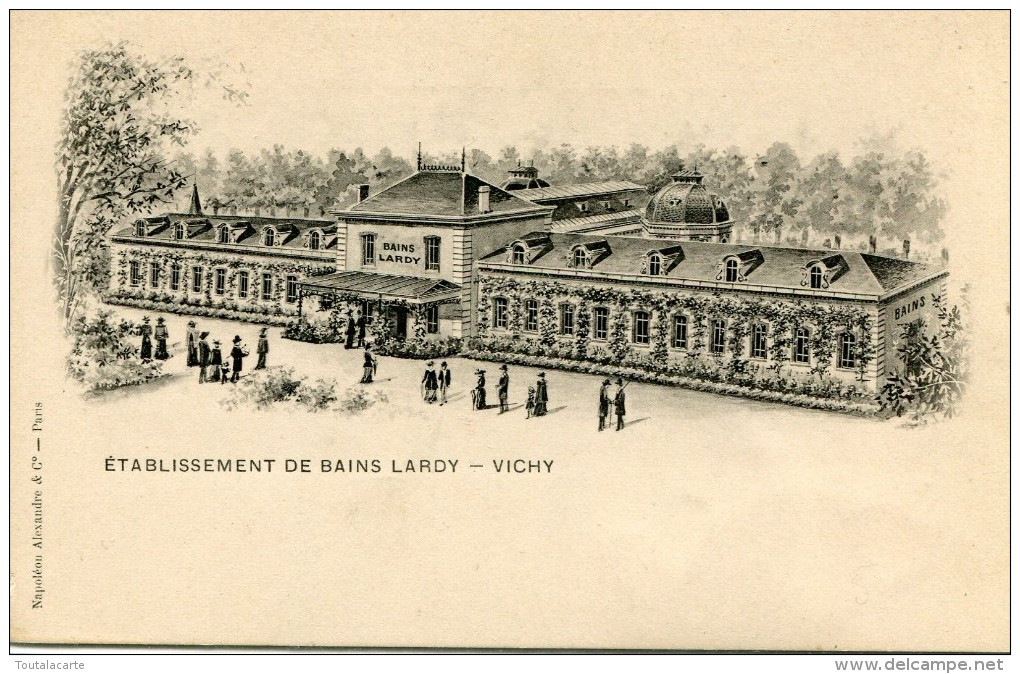 CPA 03  ETABLISSEMENT DE BAINS LARDY VICHY Dos Simple - Vichy