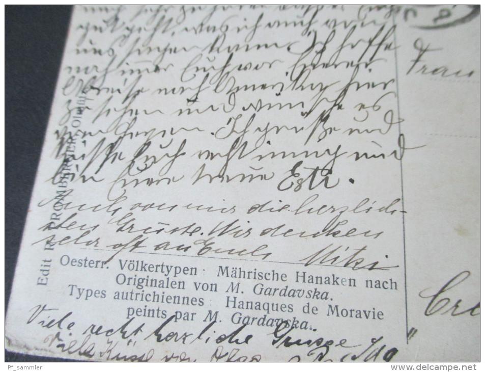 AK 1909 (?) Oesterreich Völkertypen Mährische Hanaken Nach Originalen Von M. Gardavska. Künstlerkarte - Europe